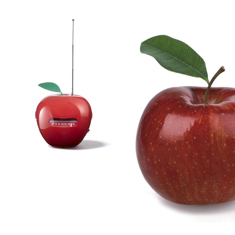 Produktdesign Küchenradio in Apfelform