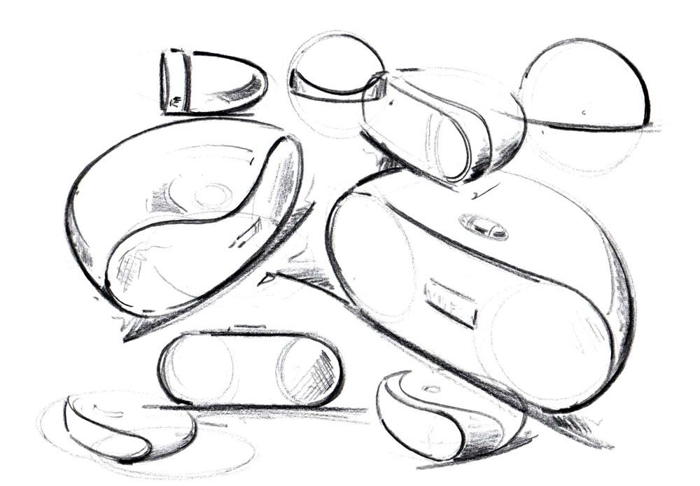 Produktdesign Handskizzen