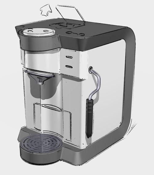 Produktdesign unterschiedlicher Kaffeemaschinen